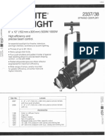 Strand Century Lighting 2337-2338 6x12-Inch Lekolite Ellipsoidal Spotlight Spec Sheet 6-77