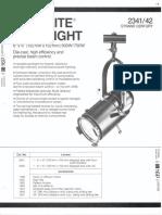 Strand Century Lighting 2341-2342 6x6-Inch Lekolite Ellipsoidal Spotlight Spec Sheet 6-77