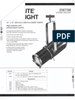 Strand Century Lighting 2567-2568 10x12-Inch Lekolite Ellipsoidal Spotlight Spec Sheet 6-77