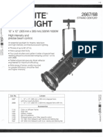 Strand Century Lighting 2667-2668 12x12-Inch Lekolite Ellipsoidal Spotlight Spec Sheet 6-77