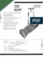 Strand Century Lighting 2669-2660 12x12-Inch Lekolite Ellipsoidal Spotlight Spec Sheet 6-77