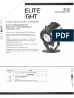 Strand Century Lighting 3142 3-Inch Fresnelite Spotlight Spec Sheet 6-77