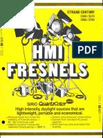 Strand Century Lighting 3360-3570-3680-3790 HMI Fresnels Brochure 6-77
