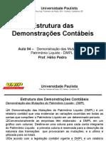 Aula 04 - Estrutura das Demonstrações Financeiras