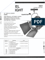 Strand Century Lighting 3501 Castor 10-Inch Fresnel Spotlight Spec Sheet 6-77