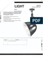 Strand Century Lighting 4273 18-Inch Scoop Floodlight Spec Sheet 6-77
