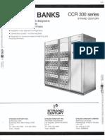 Strand Century Lighting CCR 300 Series Dimmer Banks Spec Sheet 6-77