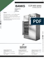 Strand Century Lighting CCR 600 Series Dimmer Banks Spec Sheet 6-77