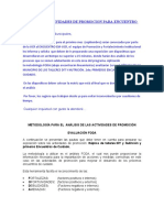 ANALISIS DE ACTIVIDADES DE PROMOCION PARA ENCUENTRO EM UCR