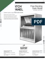 Strand Century Lighting Saf-T-Patch Patch Panel Free-Standing Desk Spec Sheet 6-77
