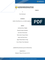 Actividad 4 Análisis del problema ético en el ámbito organizacional