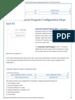Automatic Payment Program Configuration Steps SAP FI - SAP Training Tutorials