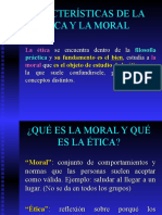 BIOÉTICA 2 bis bis (FONDO AZUL) CARACTERÍSTICAS DE LA ÉTICA Y LA MORAL