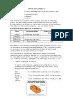 TIPOS DE LADRILLO