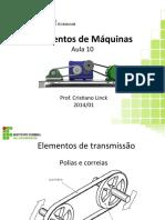 345321-Elementos_de_Máquinas_-_Aula_10-Polias_e_correias.ppt