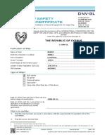 11 Ruddy Safety Equipment Certificate