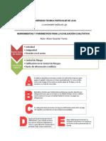 Parámetros y herramientas para la evaluación cualitativa.