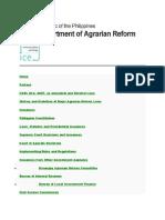 AGRARIAN REFORM LAW AND JURISPRUDENCE  A DAR-UNDP SARDIC PUBLICATION