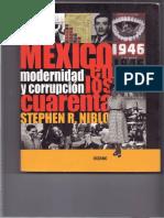 Modernidad y corrupción México, Niblo Historia de México
