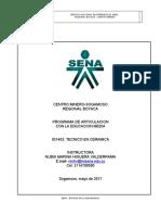 DOCUMENTO ESCRITO ELABORACION PRODUCTO CERAMICO TECNICA PLACA-cuadro