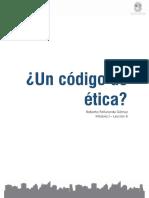 Módulo 1 - Lección 8 - Lectura 1 - ¿Un Código de Ética_