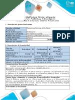 Guía y Rubrica Gerencia y Mercadeo en Salud Tarea 2-Elaborar informe de desempeño de la gerencia