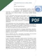 Procesos Degenerativos en Columna Lumbar.