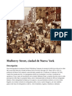 Mulberry Street, ciudad de Nueva York