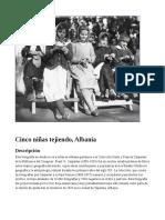 Cinco niñas tejiendo, Albania