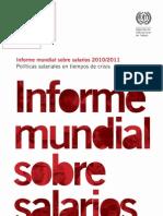 OIT-Informe Mundial Sobre Salarios 2010-2011