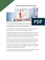 CAMBIOS NORMA ISO 9000, VERSION 2008-2015