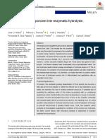 Hidrolisis enzimatica de higado de porcino