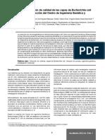Estrategia de verificación de calidad de las cepas de Escherichia coli