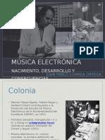Música electrónica Nacimiento  desarrollo