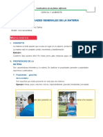 TEORÍA PROPIEDADES GENERALES DE LA MATERIA