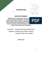 Informe Final Grupo de Trabajo