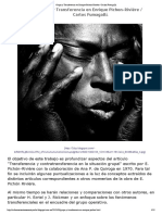 Grupo y Transferencia en Enrique Pichon-Rivière - Carlos Fumagalli..pdf