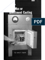 Metalworking - Handbook of Lost Wax or Investment Casting