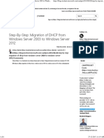 Step-By-Step Migration of DHCP from Windows Server 2003 to Wind