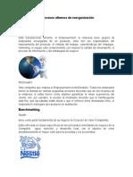 Ejemplo de los Procesos alternos de reorganización Administrativa
