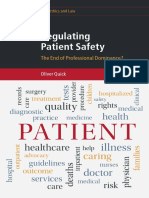 (Cambridge Bioethics and Law) Oliver Quick - Regulating Patient Safety_ The End of Professional Dominance_-Cambridge University Press (2017)