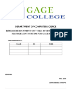student complain management system for Gage college