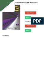 Guía de descarga - Matemáticas Avanzadas para ingeniería