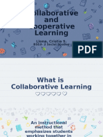 13 COOPERATIVE AND COLABORATIVE LEARNING