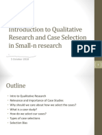 Lecture on the Qualitative Research and Case Selection