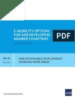 E-mobility Options for ADB member countries - Report (April 2019) ADB.pdf