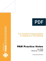 Part 3 Practice Note 2 - Architects Responsibility in Setting Out Building