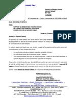 Rapport de mission Arrêtés des comptes