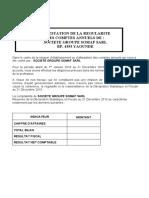 ATTESTATION DE LA REGULARITE SOMAF