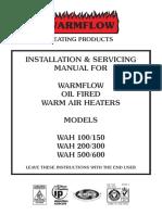 Warm Air Heater Manual (987)